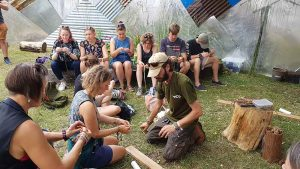 people participating in bushcraft